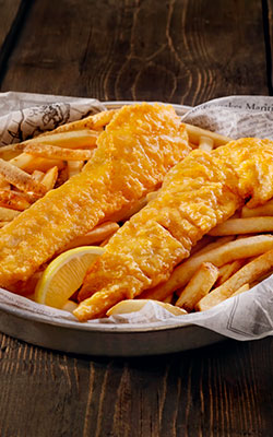 Our Famous Fish & Chips are always available