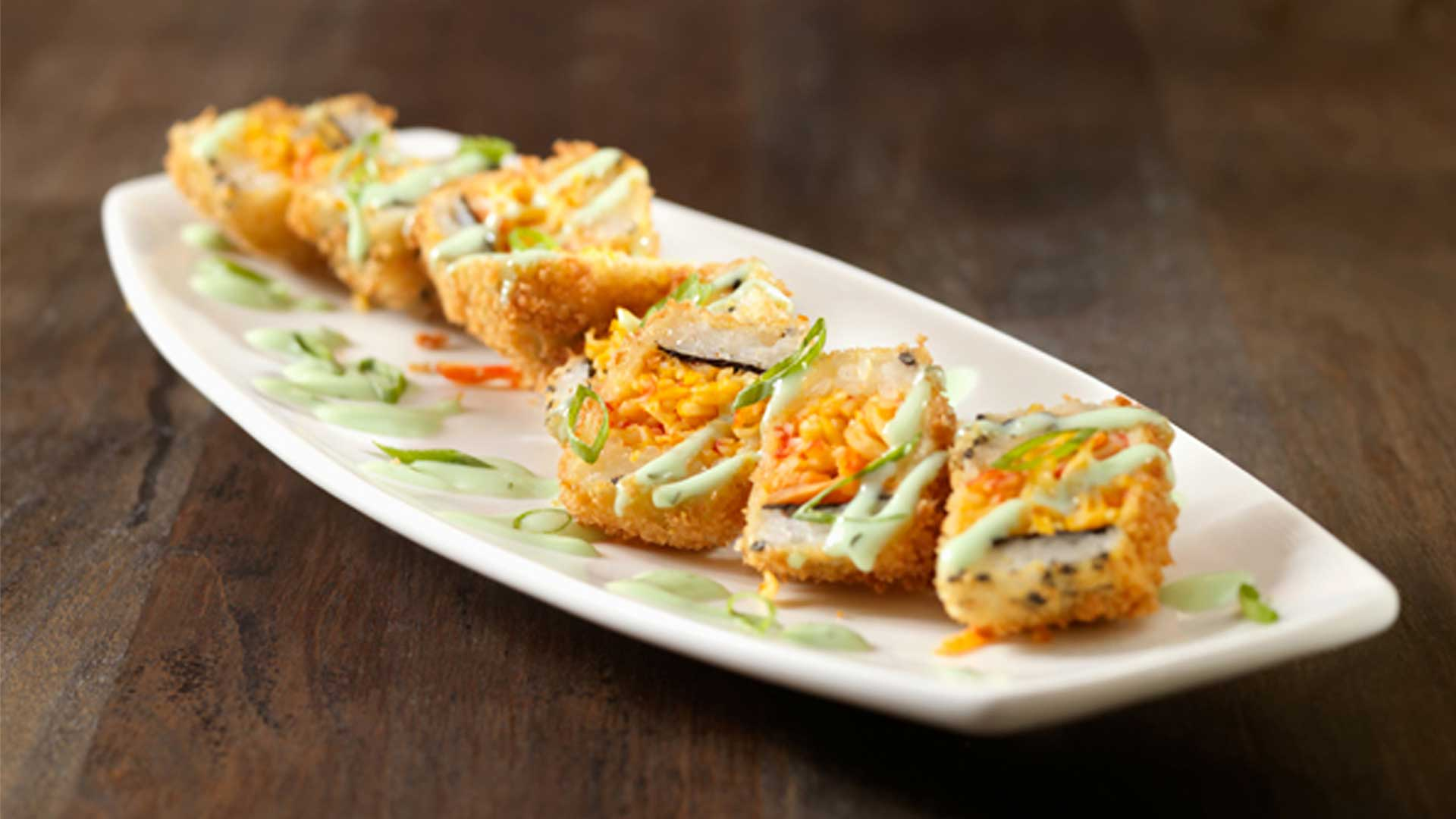 We also have great appetizers like the Sushi Crunch