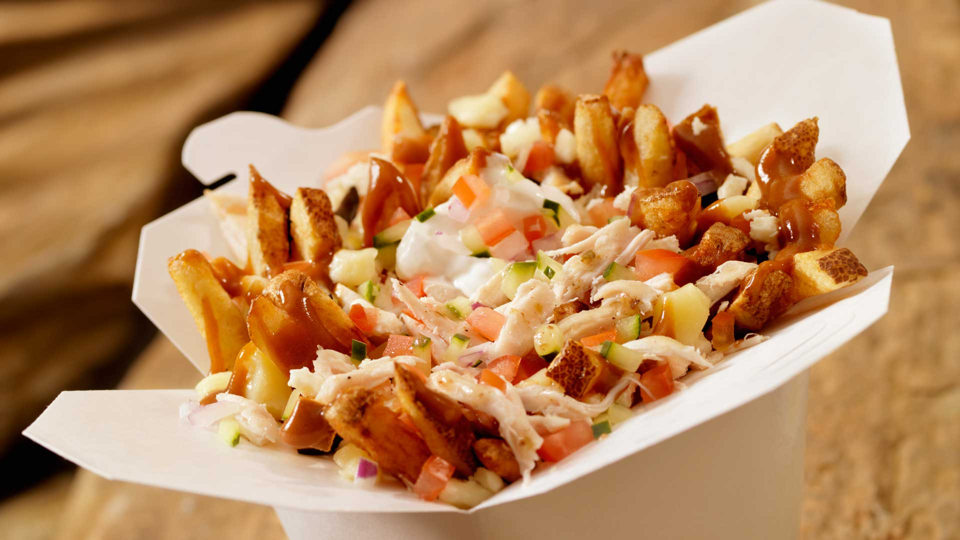 A perfectly made Greek Poutine
